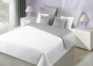 Voodipesukomplekt 3-osaline NOVA Collection White Silver, 200x200 cm