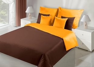 Voodipesukomplekt 3-osaline NOVA Collection Orange Brown, 200x200 cm