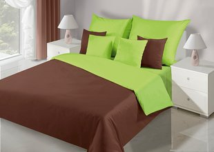 Voodipesukomplekt 2-osaline NOVA Collection Brown Green, 135x200 cm