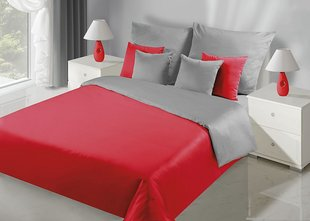 Voodipesukomplekt 3-osaline NOVA Collection Red Silver, 200x220 cm