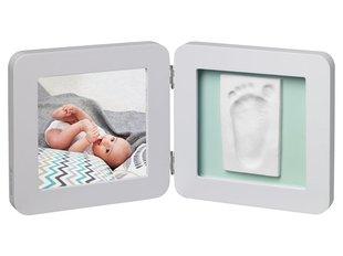 Рамочка двойная с отпечатком Baby Art, grey pastel цена и информация | Слепки ручек и ножек для младенцев | kaup24.ee