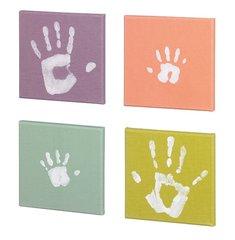 Полотно с краской для отпечатка рук Baby Art, 4 шт. цена и информация | Слепки ручек и ножек для младенцев | kaup24.ee
