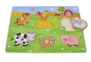 Puidust pusle Smiki Loomafarm hind ja info | Imikute mänguasjad | kaup24.ee