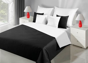 Voodipesukomplekt 3-osaline NOVA Collection White Black, 200x220 cm
