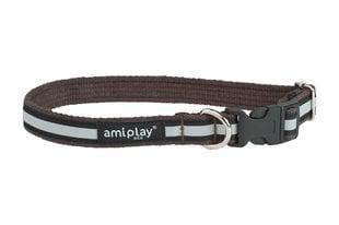 Reguleeritav kaelarihm Amiplay Cotton Shine, L, pruun
