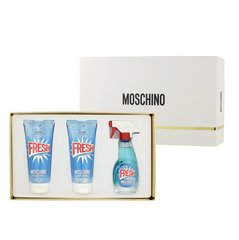 Komplekt Moschino Fresh Couture: EDT naistele 50 ml + ihupiim 100 ml + dušigeel 100 ml