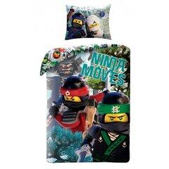 Laste voodipesukomplekt 2-osaline LEGO Ninjago Ninja Moves, 140x200 cm