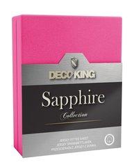 Kummiga voodilina DecoKing jersey Sapphire Collection, 120x200 cm, roosa