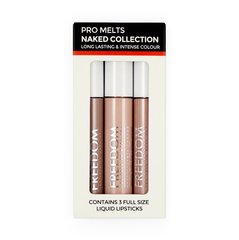 Vedelate huulevärvide komplekt Freedom Pro Melts Naked Collection