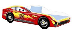 Voodi madratsiga Car BED-RED-3, 140x70 cm