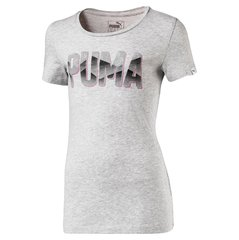 Puma футболка Style Graphic Tee, Light Gray Heather