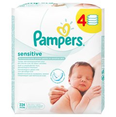 Niisked salvrätikud Pampers Baby Wipes Sensitive, 4x56tk