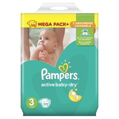 Подгузники Pampers Mega Box, 5-9 кг, 172 шт.