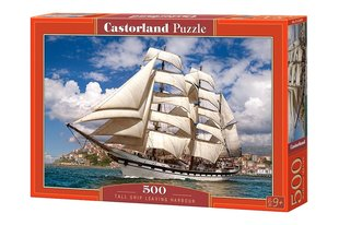 Pusle Puzzle Castorland Tall Ship Leaving Harbour, 500 tk hind ja info | Pusle Puzzle Castorland Tall Ship Leaving Harbour, 500 tk | kaup24.ee