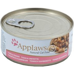 Applaws Cat Tuna Fillet with Prawn, 156 g hind ja info | Konservid kassidele | kaup24.ee