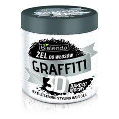 Tugevalt fikseeriv juuksegeel hüaluroonhappe ja siidi proteiiniga Bielenda Graffiti 3D 250 g