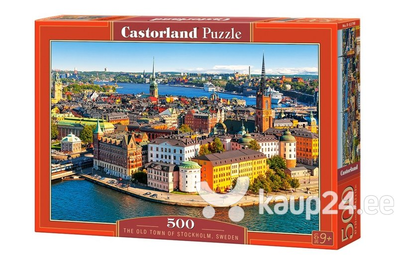 Pusle Puzzle Castorland The Old Town of Stockholm Sweden, 500 osa