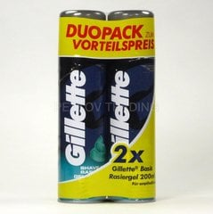 Гель для бритья Gillette Sensitive Classic Duopack 2 x 200 мл