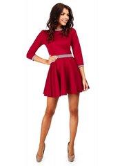 Naiste kleit MOE M052, punane hind ja info | Moe Naiste riided | kaup24.ee