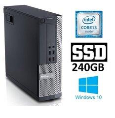 Lauaarvuti DELL 7010 SFF i3-3220 4GB 240SSD DVDRW WIN10Pro цена и информация   Компьютеры   kaup24.ee