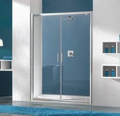 Dušikabiini uks niššile Sanplast TX DD/TX5b 80s, profiil pergamon, kaunistatud klaas W15