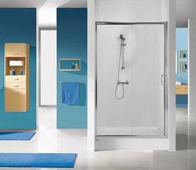 Душевая дверь в нишу Sanplast TX D2/TX5b 100s, профиль- матовый серебряный, декорированное стекло W15