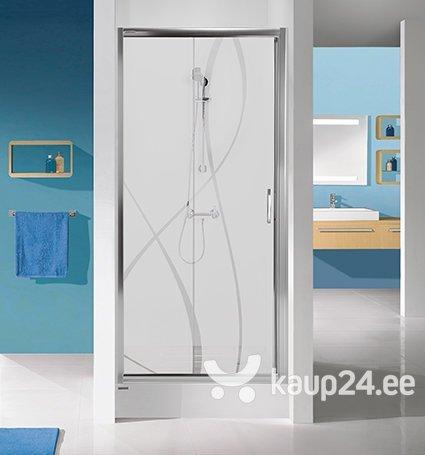Душевая дверь в нишу Sanplast TX D2/TX5b 110s, профиль- белый, прозрачное стекло W0
