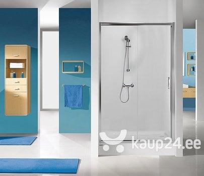 Душевая дверь в нишу Sanplast TX D2/TX5b 110s, профиль- manhatan, декорированное стекло Grey