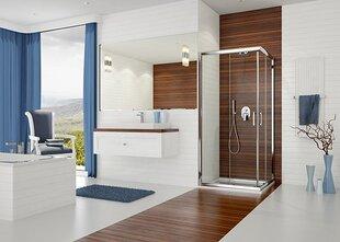 Nurga dušikabiin Sanplast TX KN/TX5b 80x100s, profiil läikiv hõbedane, läbipaistev klaas W0