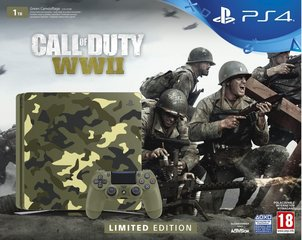 Mängukonsool Sony PlayStation 4 (PS4) Slim, 1 TB Camouflage Limited Edition + Call of Duty: WWII