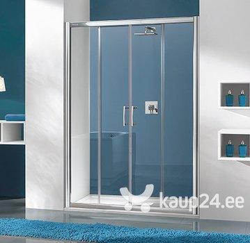 Dušikabiini uks niššile Sanplast TX D4/TX5b 160s, profiil valge, kaunistatud klaas W15