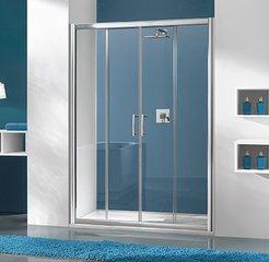 Dušikabiini uks niššile Sanplast TX D4/TX5b 170s, profiil bahama helepruun, kaunistatud klaas grey