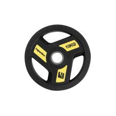 Весовой диск с резиновым покрытием inSPORTline Olympic Herk, 10кг