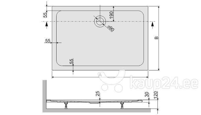 Dušialus Sanplast Free Line B/Free 70x100x2,5