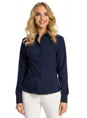 Naiste särk MOE M340, tumesinine hind ja info | Naiste tuunikad, pluusid ja särgid | kaup24.ee