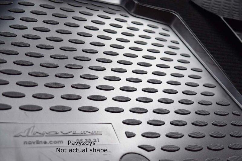 Kummimatid 3D PEUGEOT 206 1998-2012, 4 pcs. /L52012G /gray