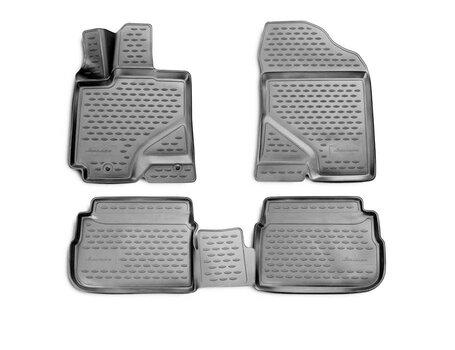 Kummimatid 3D PONTIAC Vibe 2009-2012, 4 pcs. /L53001G /gray