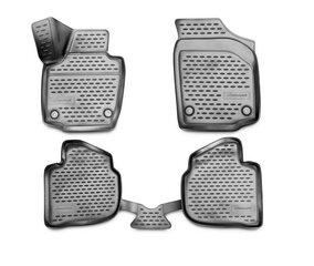 Kummimatid 3D SKODA Rapid 2013->, 4 pcs. /L57003G /gray hind ja info | Kummimatid | kaup24.ee