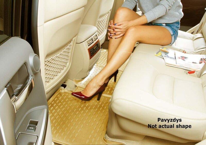 Kummimatid 3D VW Touareg 2002-2010, 4 pcs. /L65040B /beige