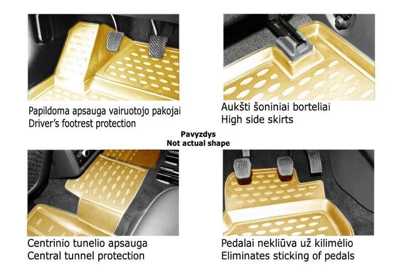 Kummimatid 3D NISSAN Juke 2010-2014, 2014->, 4 pcs. /L50016B /beige