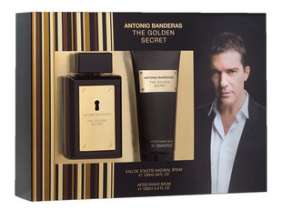 Komplekt Antonio Banderas The Golden Secret: EDT meestele 100 ml + habemeajamisjärgne palsam 100 ml