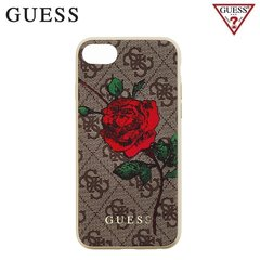 Guess 4G Flower Desire tagus telefonile Apple iPhone 7 / 8, pruun