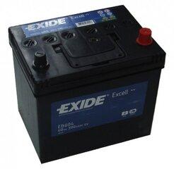 Aku EXIDE EB604 60Ah 390A hind ja info | Akud | kaup24.ee
