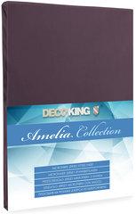 Kummiga voodilina DecoKing Jersey Amelia Collection, 140x200 cm, pruun