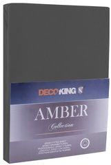 Kummiga voodilina DecoKing jersey Amber Dimgray, 140x200 cm hind ja info | Voodilinad | kaup24.ee