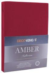 Kummiga voodilina DecoKing jersey Amber Maroon, 160x200 cm