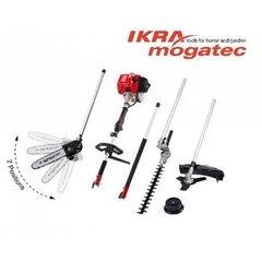 Bensiinimootoriga Ikra Mogatec universaalne seade 4in1 IBKH 33 hind ja info | Elektrilised saed, mootorsaed ja tarvikud | kaup24.ee