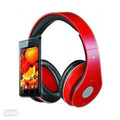 Juhtmega kõrvaklapid Rebeltec Audiofeel, punane hind ja info | Kõrvaklapid | kaup24.ee