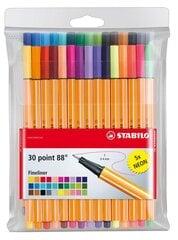 Värvilised pastakad Stabilo POINT 88 30 värvi hind ja info | Kunstitarbed, voolimise tarvikud | kaup24.ee