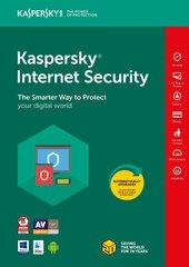 Viirusetõrje Kaspersky Internet Security Multi-Device 2018 pikendamise litsents (1 seade)